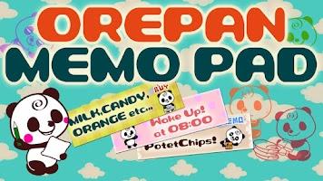 Screenshot of Memo Pad Panda (sticky) note