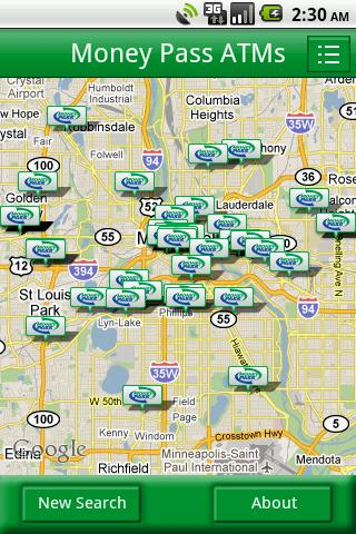 MoneyPass ATM Locator- screenshot
