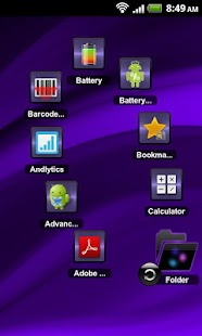 TSF Shell Theme Purple Wind HD - screenshot thumbnail