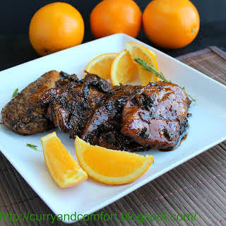 Orange-Balsamic Glazed Chicken.