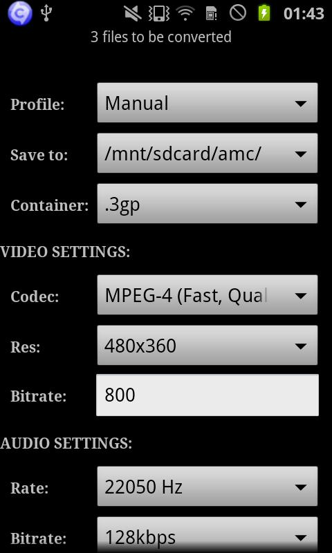 ARM Codec Default Vidcon - screenshot