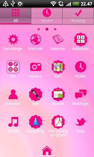 Hot Pink GO Launcher EX Theme- screenshot thumbnail