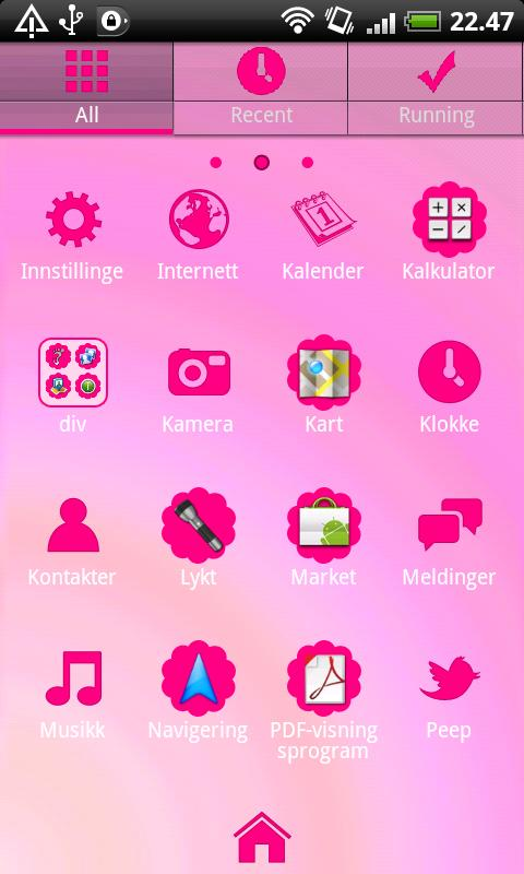 Hot Pink GO Launcher EX Theme - screenshot