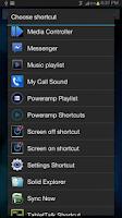 Screenshot of Poweramp Media Shortcuts