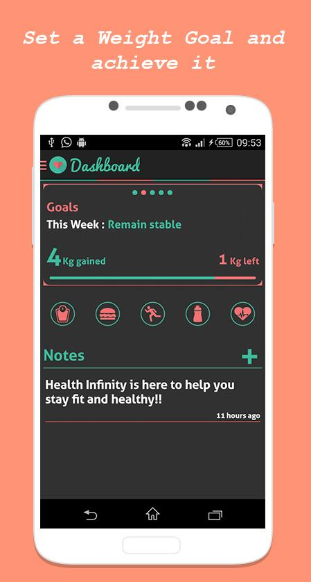 HI - Health & Fitness Tracker- screenshot