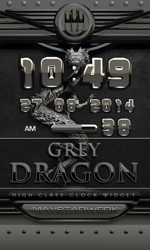 dragon digital clock grey