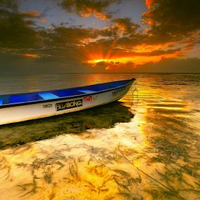 Pantai Karang by I Komang Windu - Landscapes Beaches ( bali, nature, indonesia, sanur, travel, sunrise, beach, boat,  )
