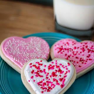 Royal Icing Valentine's Cookies.