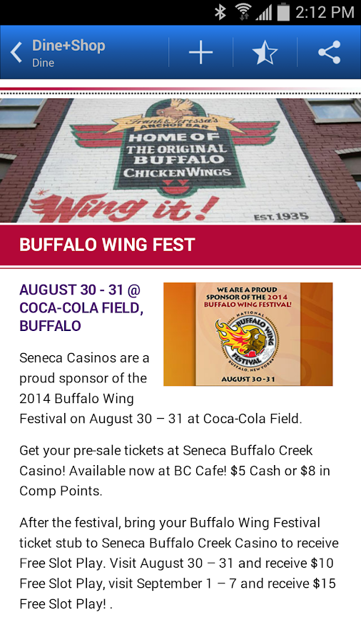 Seneca Buffalo Creek Casino- screenshot