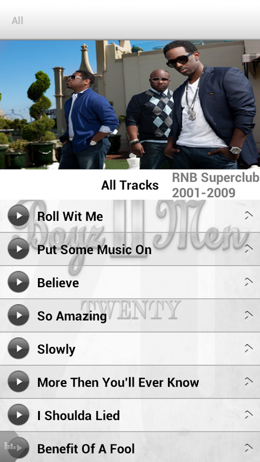 Boyz II Men App - screenshot