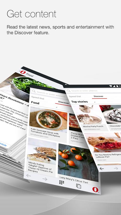Opera browser beta - screenshot