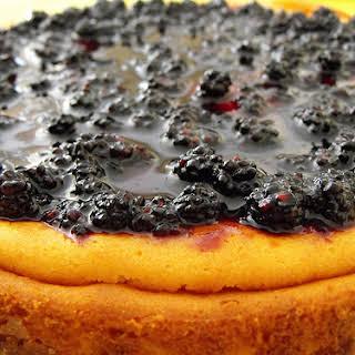 Cheesecake with Fresh Blackberries.