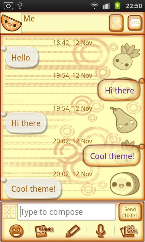 Cutie Tutti Go SMS Pro- screenshot
