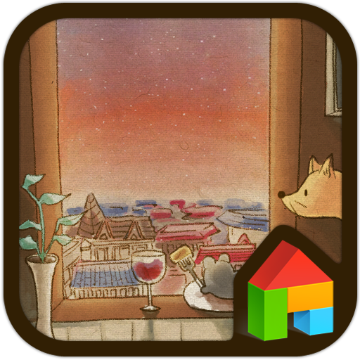 距離(夕焼け)ドドルランチャーのテーマ 個人化 App LOGO-硬是要APP