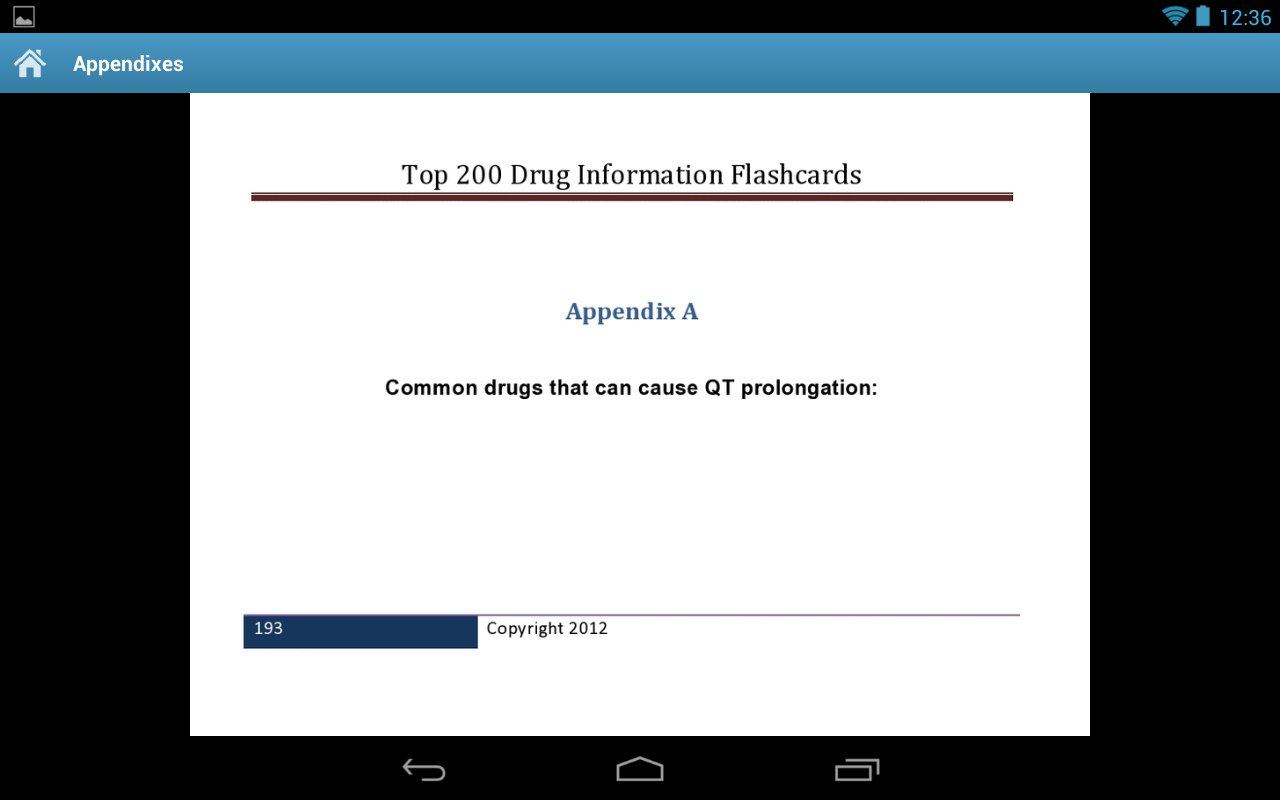 Drug Information Flash Cards- screenshot