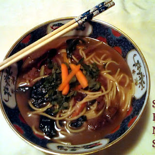Beijing-Style Spicy Beef Noodle Soup with Spinach.