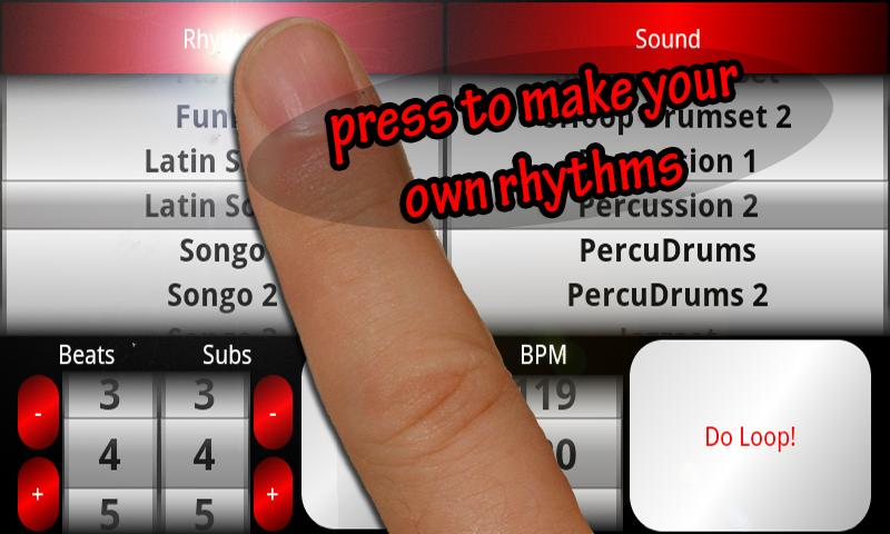 Acoustic Drum Machine- screenshot