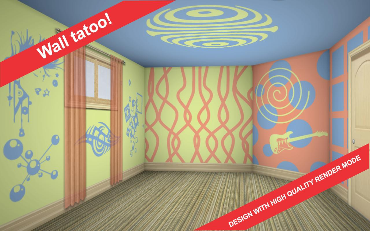 3d interior room design app android su google play for Room design 3d app