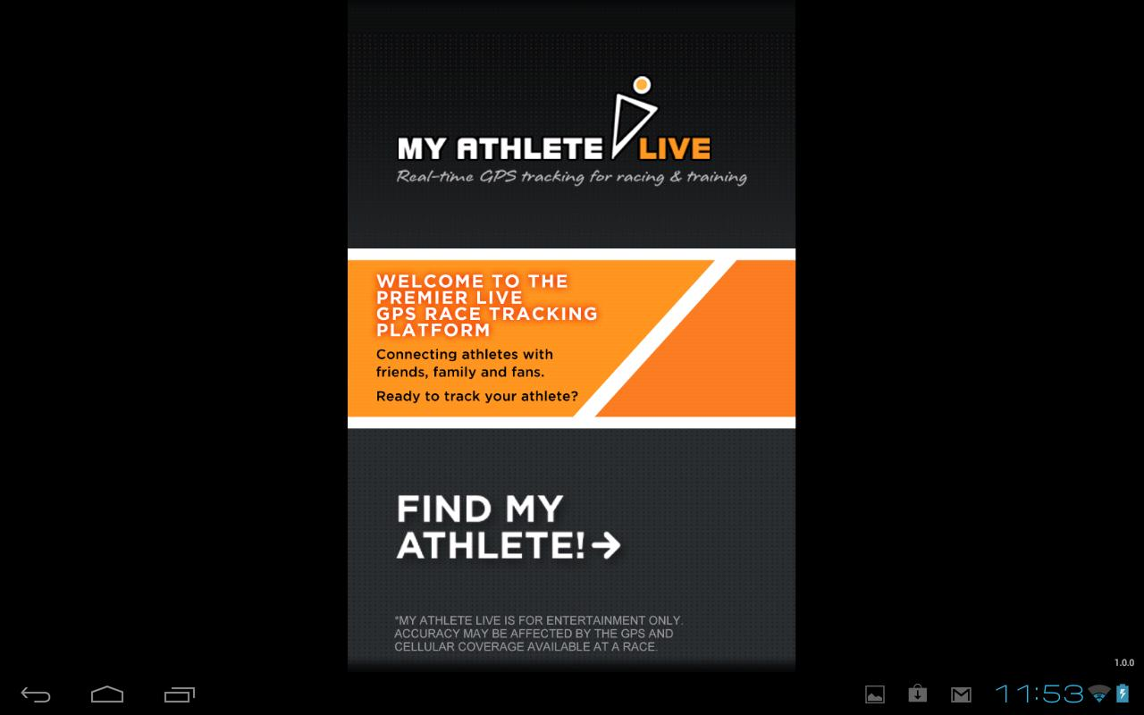 MyAthlete Live Tracker- screenshot