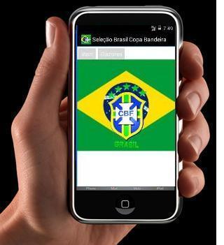 Seleção Brasil Copa Bandeira