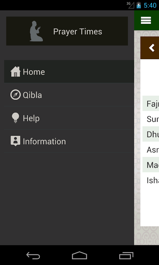 Prayer times: Qibla & Azan- screenshot