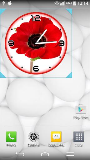 紅 罌粟 時鐘