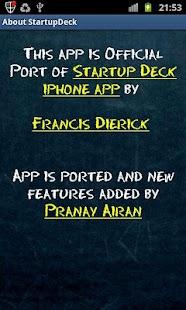 StartupDeck startup pitch - screenshot thumbnail