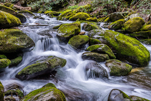 Mountain Stream by Mike Moss - Landscapes Waterscapes