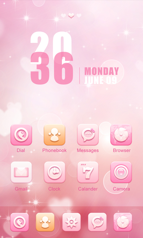 Abby GO Launcher Theme- screenshot