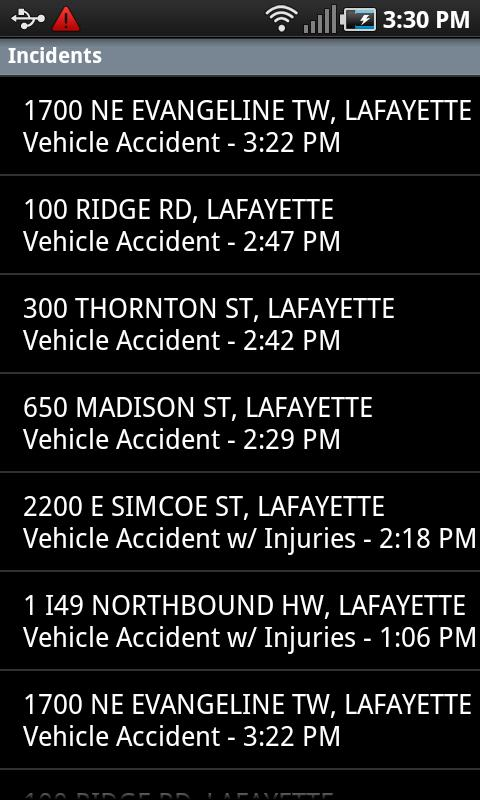 Lafayette Traffic- screenshot