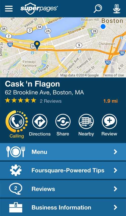 Superpages Local Search - screenshot