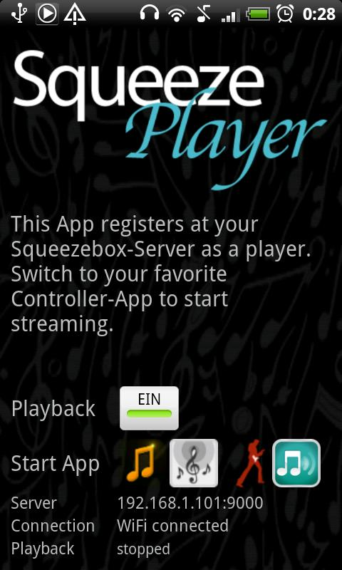 SqueezePlayer Screenshot