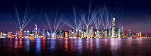 Hong-Kong-Symphony-of-Lights2 - The Symphony of Lights laser show in Hong Kong.