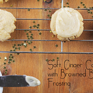 Soft Ginger Cookies with Browned Butter Frosting.