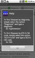 Screenshot of ICD-9-CM