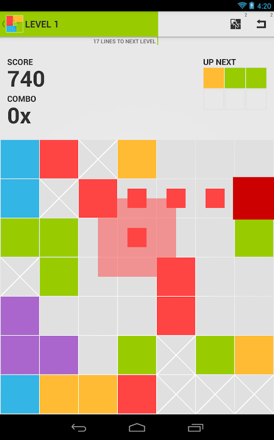 7x7 - Best Color Strategy Game - screenshot