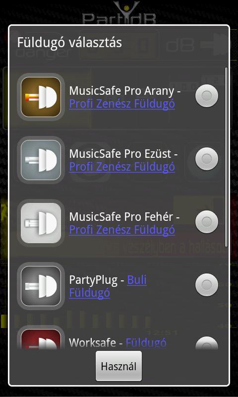 PartydB- screenshot