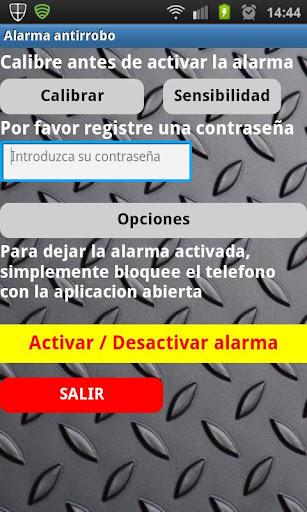 Alarma antirrobo android
