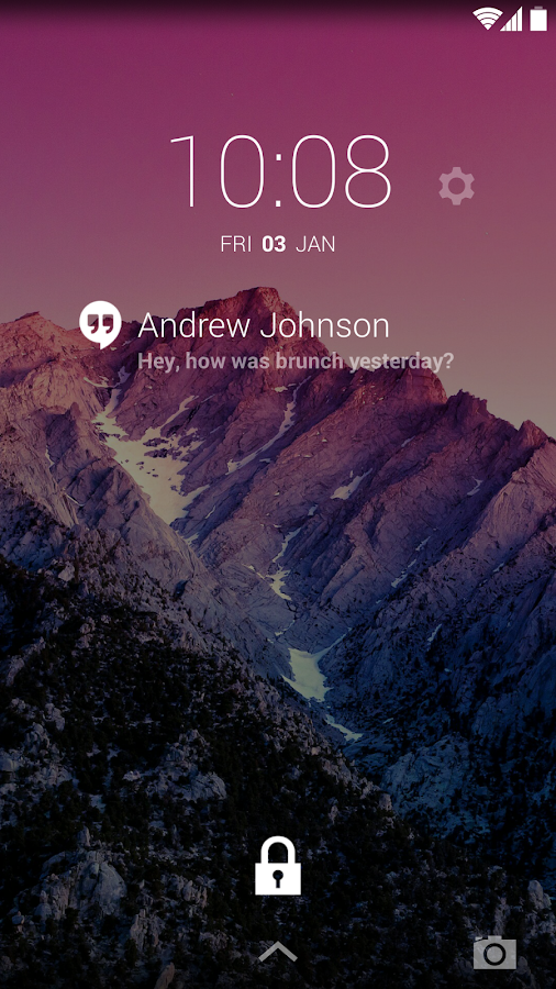 Hangouts DashClock Extension - screenshot