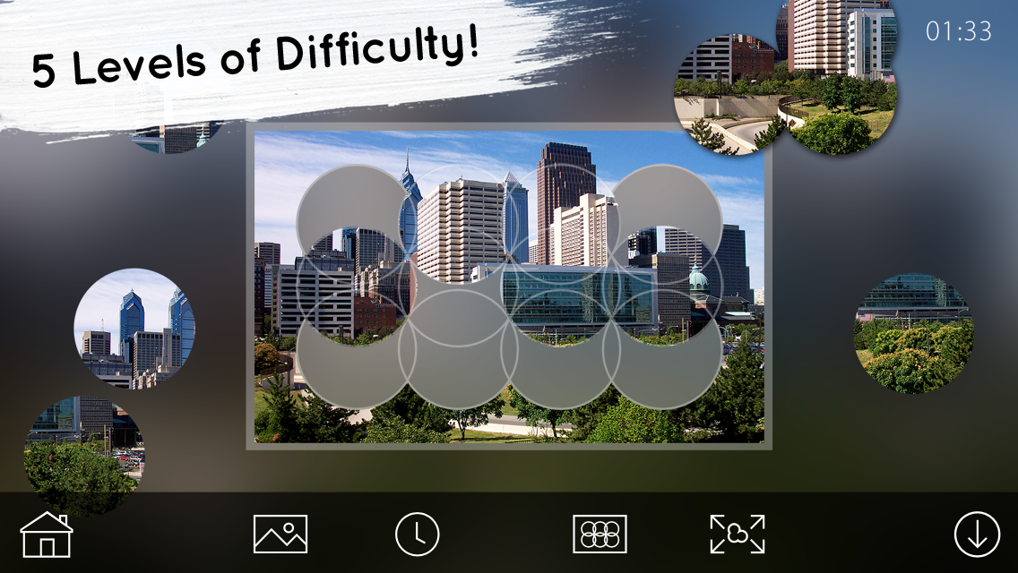 Venn Skylines: Circle Jigsaw- screenshot