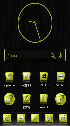 Slick Launcher Theme Yellow