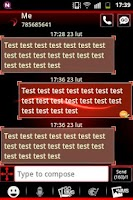 Screenshot of GO SMS Theme Simple Red