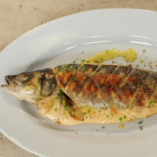 Grilled Whole Fish with Lemon Emulsion.