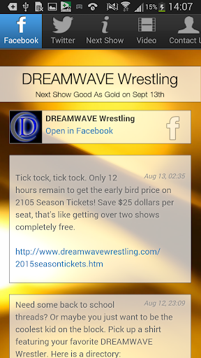 DREAMWAVE Wrestling App