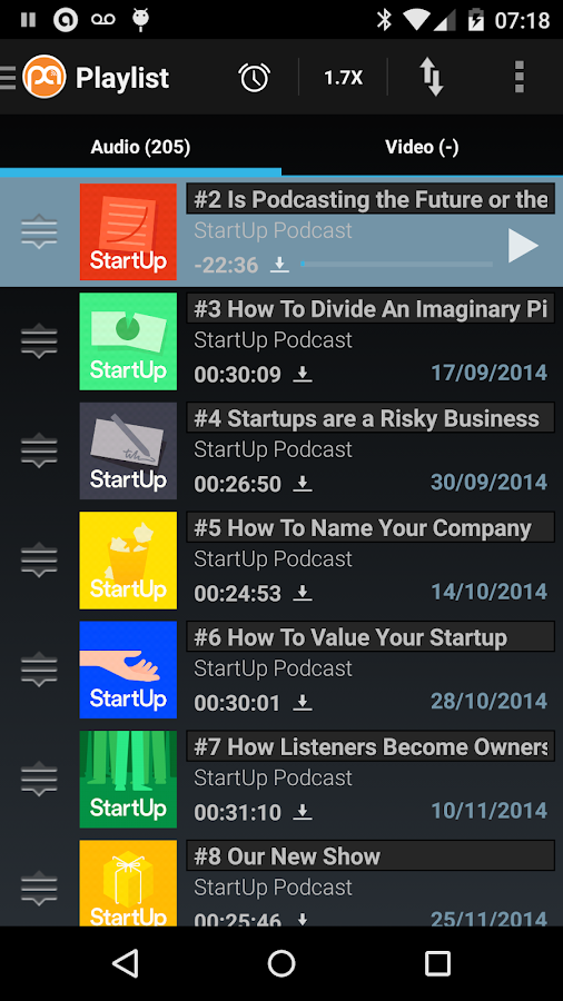 Podcast Addict - screenshot