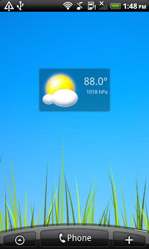 14 Mini Transparent Weather °F