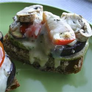 Vegetarian Open Faced Sandwich