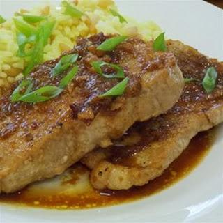 Pork with Plum Sauce.
