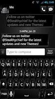Screenshot of GO SMS Dark Style Theme