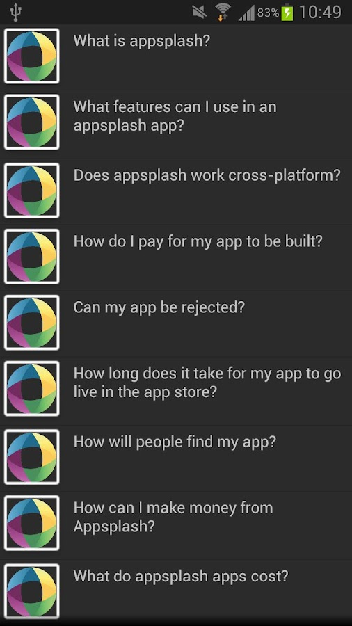 Appsplash Support - screenshot